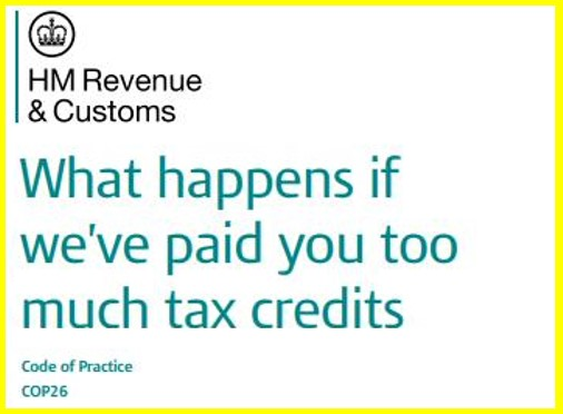 tax credits overpayments guide